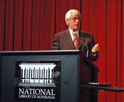 Julian Burnside at the National Library for the Manning Clark lecture 2008