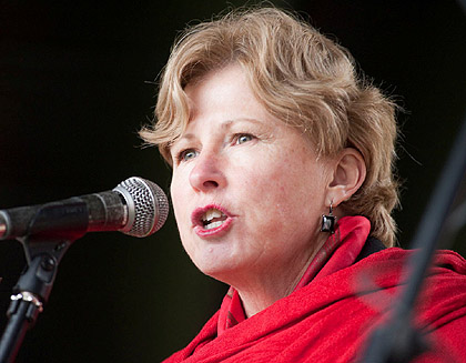 The Greens' Environment spokesperson Christine Milne at the 13 June 2009 Hobart Climate Change Rally