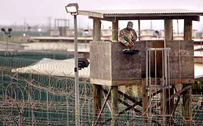 One of the guard towers at Guantanamo Bay
