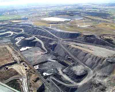The Hunter region's Lemington Mine, one of many open cut coal mines in the Hunter Valley