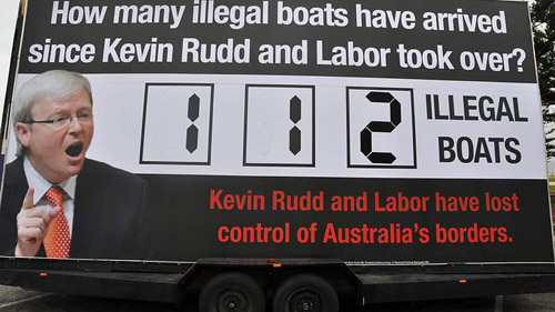 The Liberals' illegal boats under Kevin Rudd Billboard
