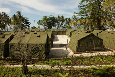 The re-opened Manus Island refugee jail