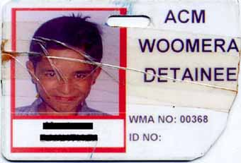 Monty's ID Card, nicely 'stepped on' and 'lost' during Easter 2002 at the Woomera Hellhole