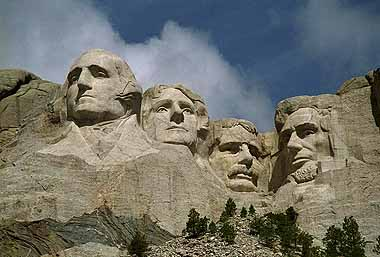 The Founding Fathers on Mount Rushmore