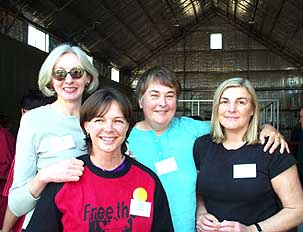 Mudgee goers: Anne Coombs, Anne Simpson, Grace Gorman and Jacqui Everitt