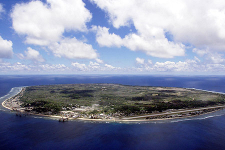 The tiny island of Nauru