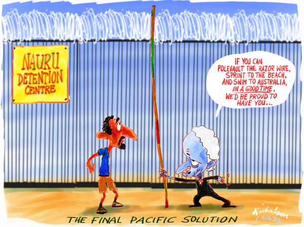 Philip Ruddock's advice on how to enter Australia from the Nauru detention centre