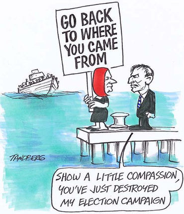 Gillard Abbott Go back to where you came from