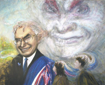 A painting of Australia's Prime Minister John Howard by Robert Bosler