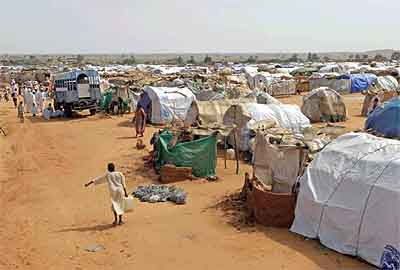 The Dereig refugee camp in Darfur